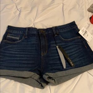 NWT STS Blue rolled denim high rise shorts